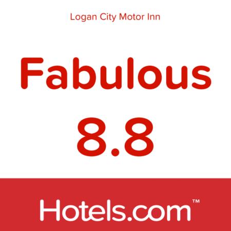 2020 Hotels.com award Fabulous 8.8